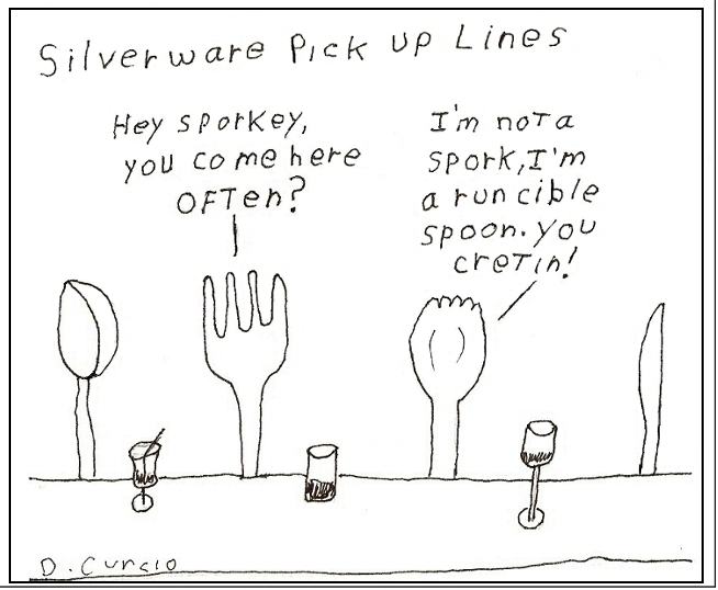 Silverware Pick Up Lines