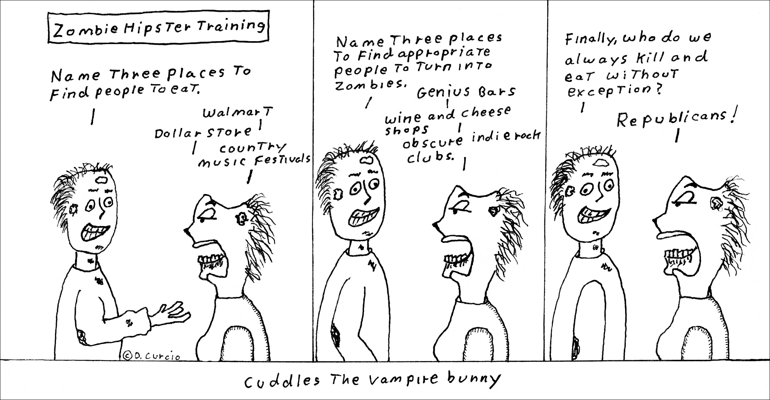 Zombi Hipster Training