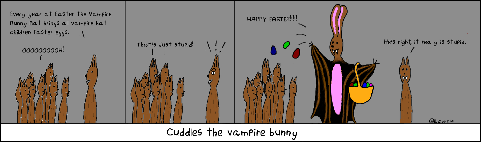 Happy Easter Bunny Bat